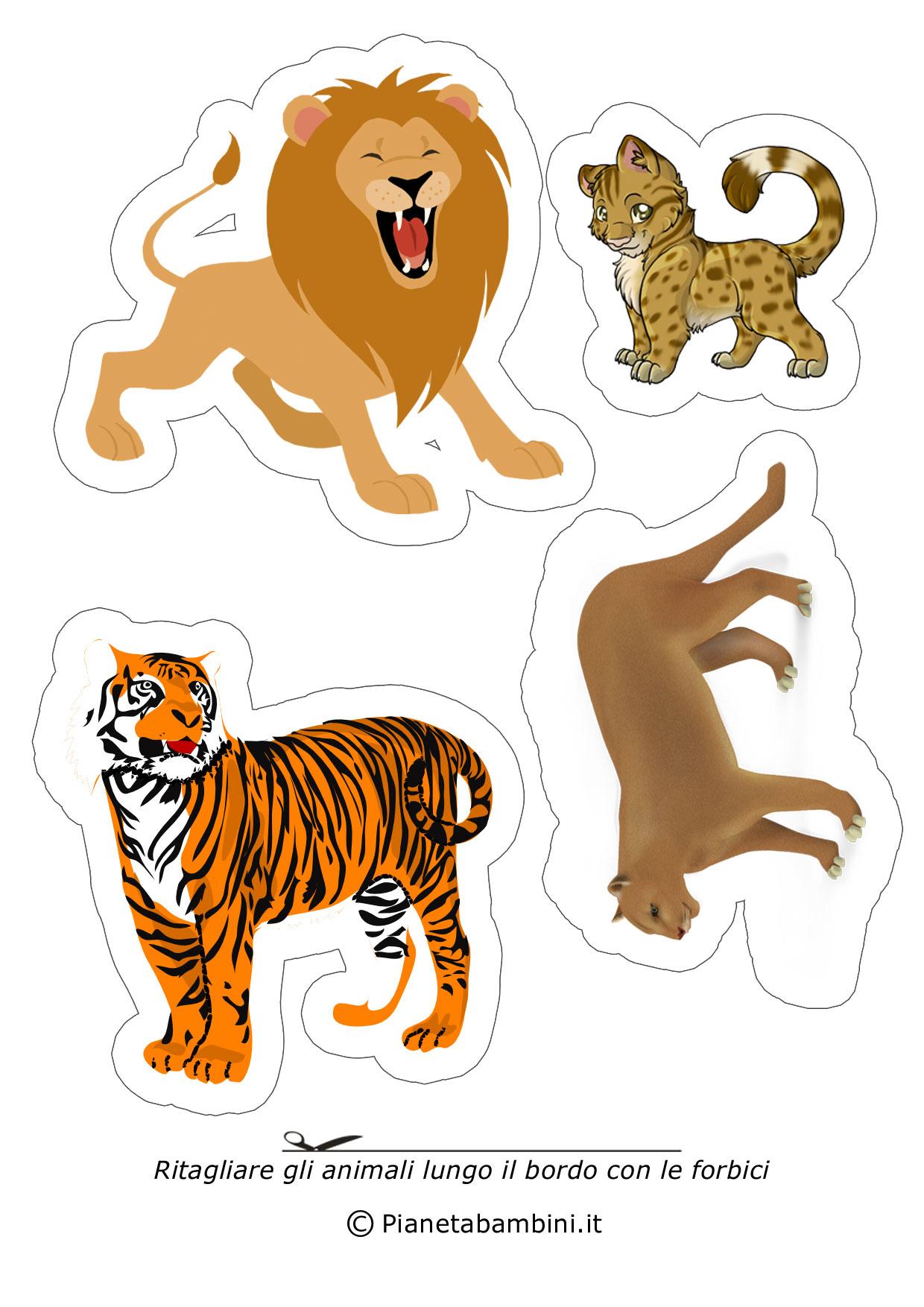 Disegni di animali da ritagliare e incollare per bambini for Cip e ciop immagini da colorare
