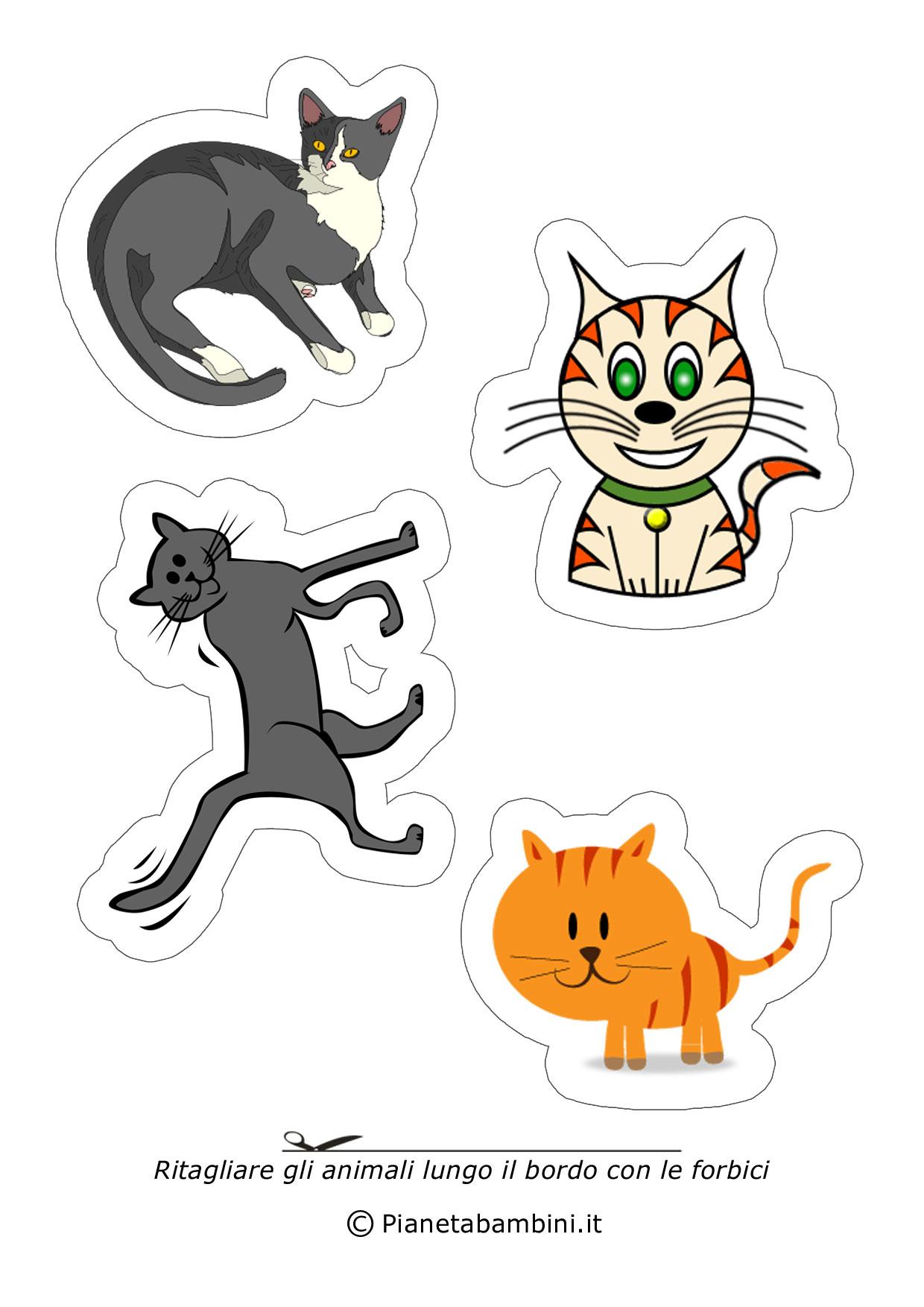 Disegni di animali da ritagliare e incollare per bambini - Immagini di animali da stampare gratuitamente ...