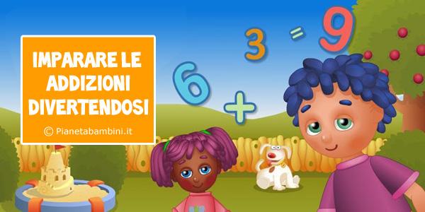 Giochi di matematica sulle addizioni per bambini