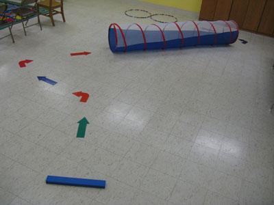 Percorso a ostacoli per bambini