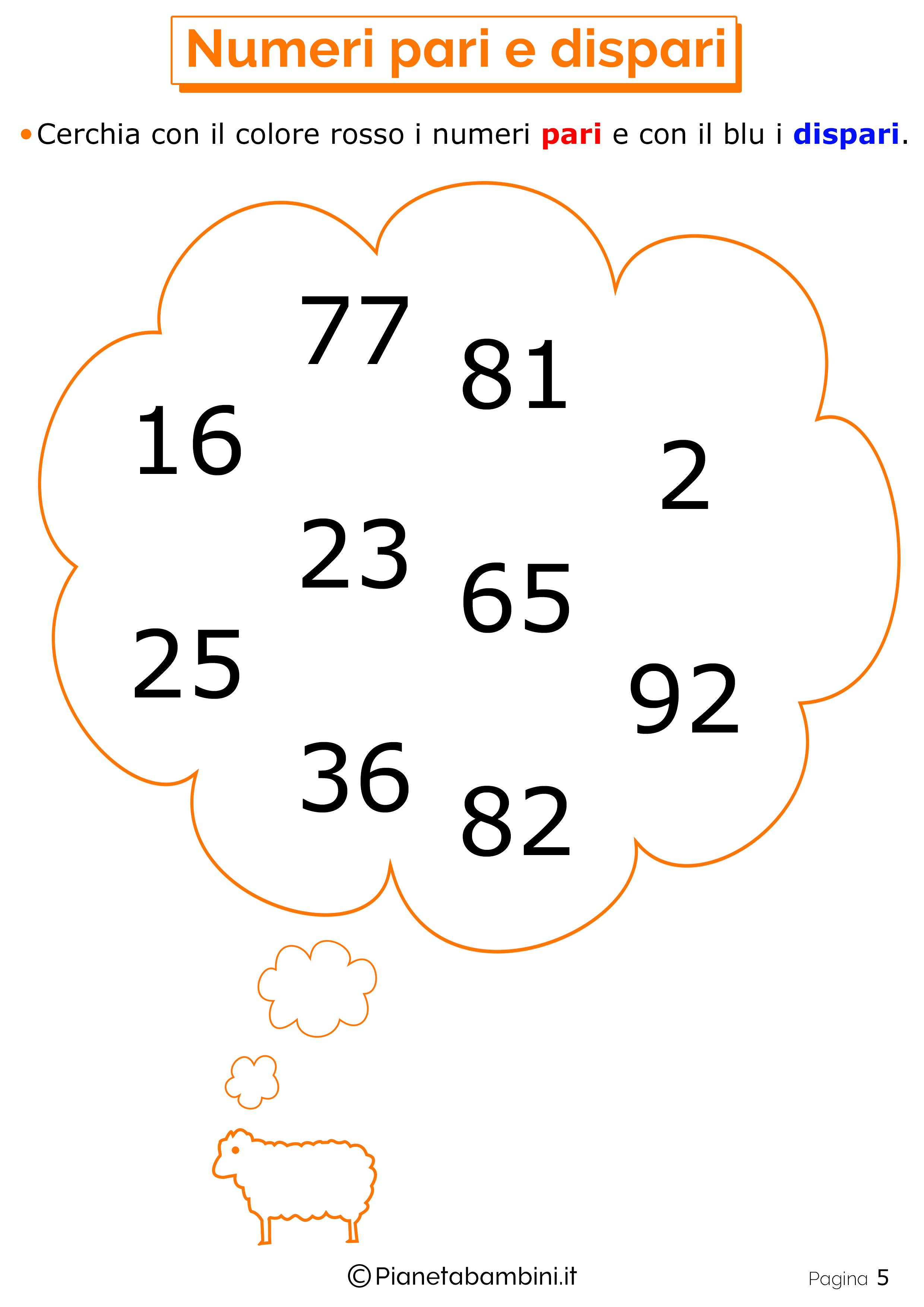 Trova numeri pari e dispari 5