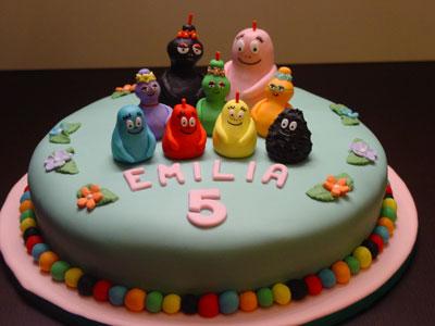 Foto della torta di Barbapapà
