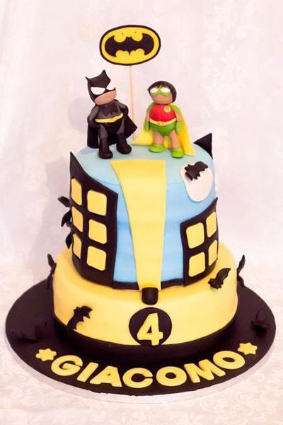 Foto della torta di Batman
