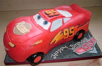 Foto della torta di Cars