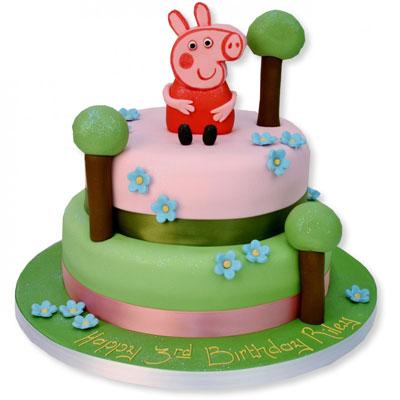 Foto della torta di Peppa Pig
