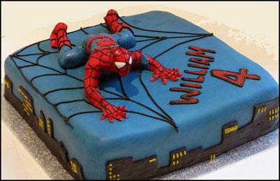 Foto della torta di Spider-Man