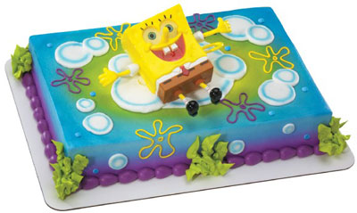 Foto della torta di Spongebob
