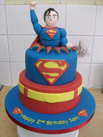 Foto della torta di Superman