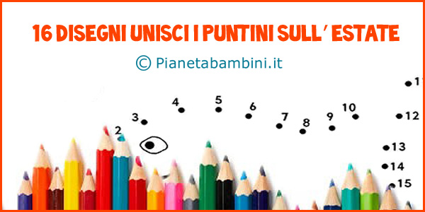 Unisci i puniti dedicati all'estate per bambini