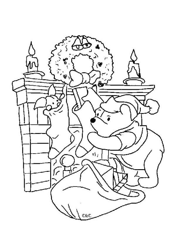 Winnie The Pooh Kerst Kleurplaat Disegni Di Winnie The Pooh Da Stampare E Colorare
