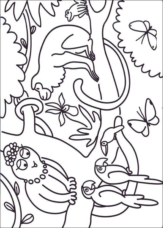 57 disegni da colorare di barbapapa - Scimmia faccia da colorare pagine da colorare ...