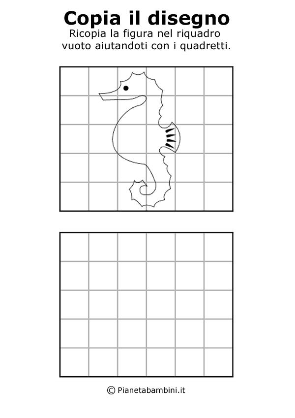 Disegni facili da copiare a matita per bambini for Cavalluccio marino disegno