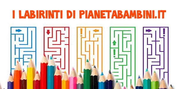 Labirinti pronti da stampare per bambini