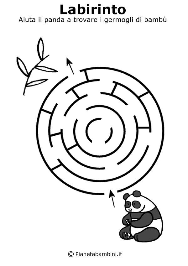 labirinti da stampare per bambini di 5 anni circa