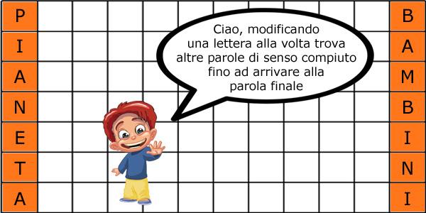 Metagrammi per bambini da stampare