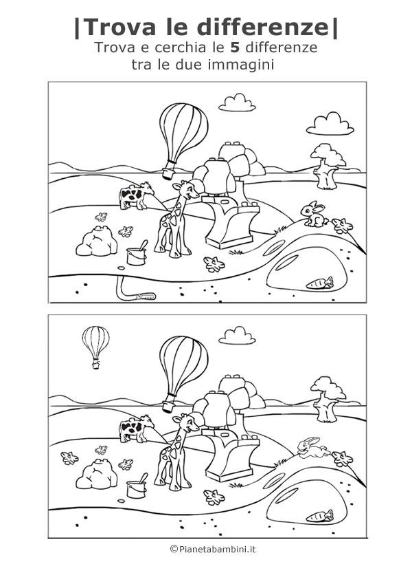 """abbastanza 30 Giochi """"Trova le Differenze"""" da Stampare per Bambini  VB81"""