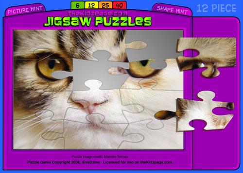 Immagine del sito di puzzle Thekidzpage