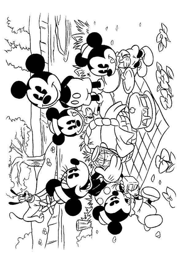 Disegni di topolino da stampare e colorare