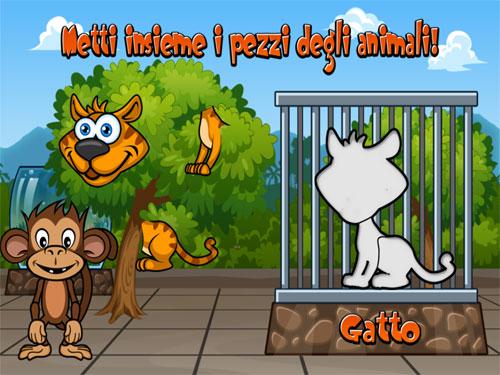 Immagini del gioco puzzle Animali dello Zoo