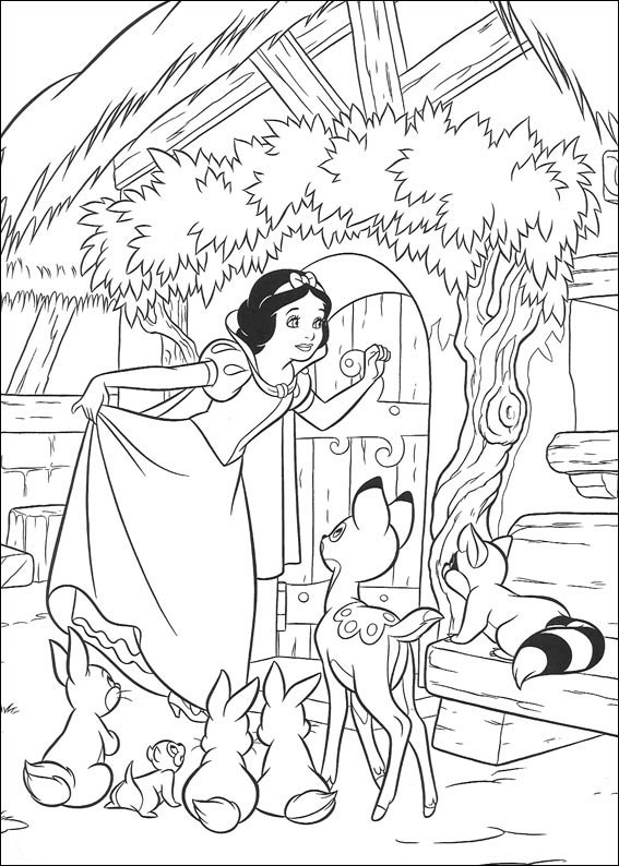Disegni di biancaneve da stampare e colorare for Snow white coloring pages