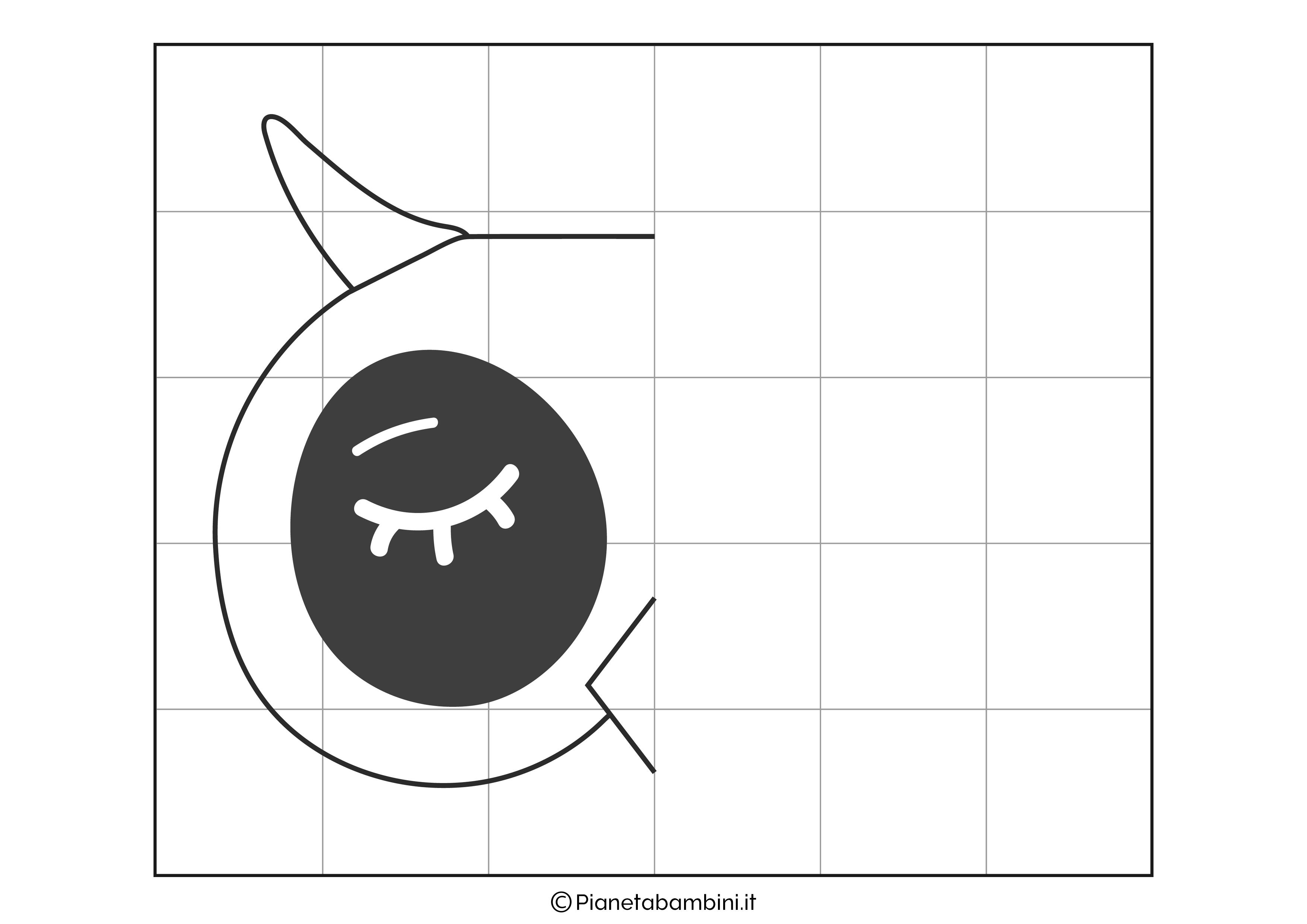 Disegno simmetrico sul gufo da completare