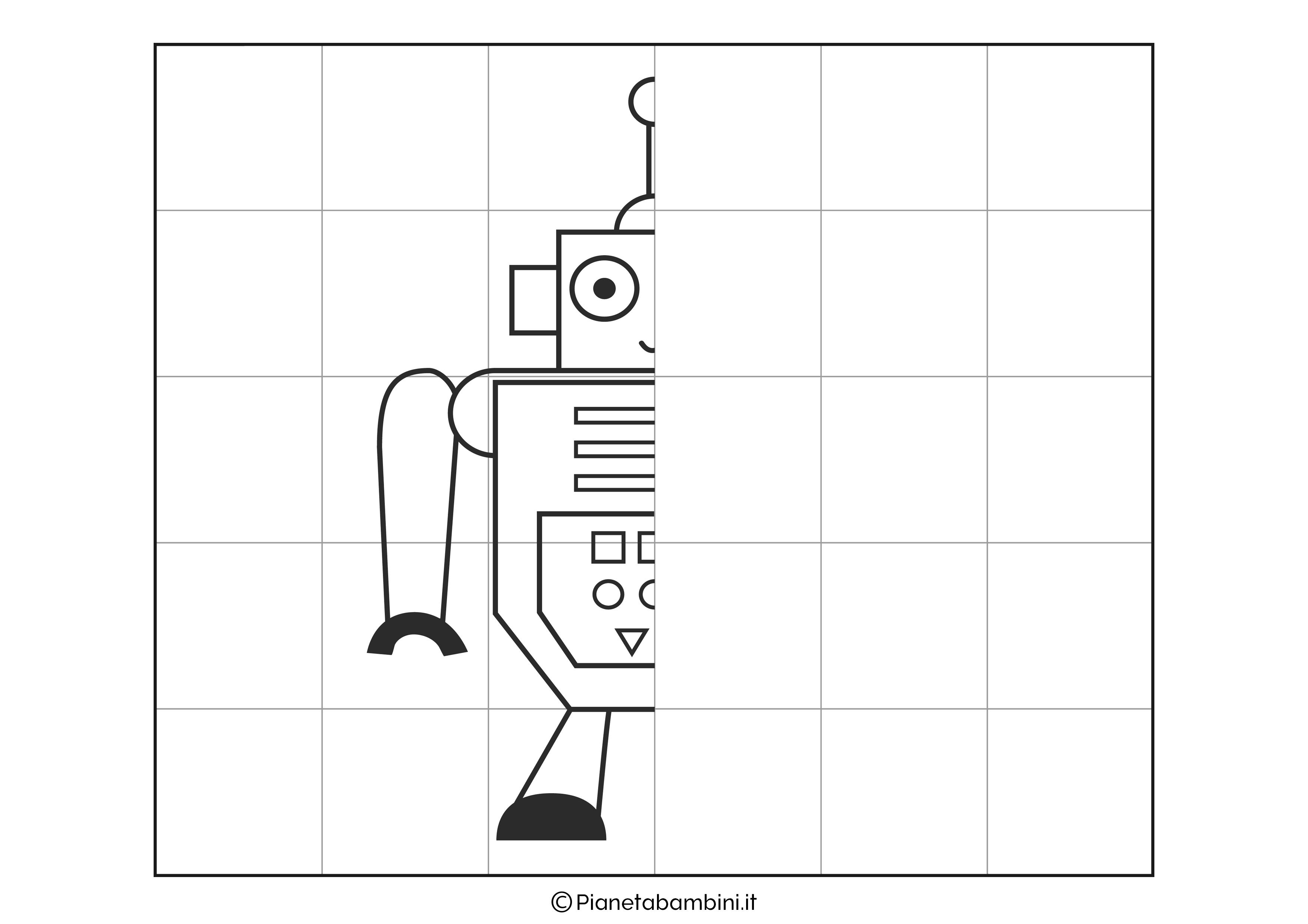 Disegno simmetrico sul robot 2 da completare