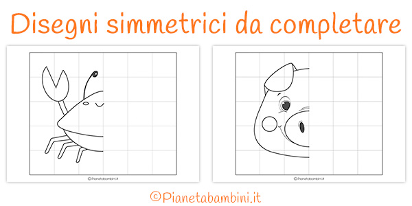 Disegni simmetrici da completare