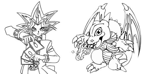 Disegni di Yu-Gi-Oh da colorare