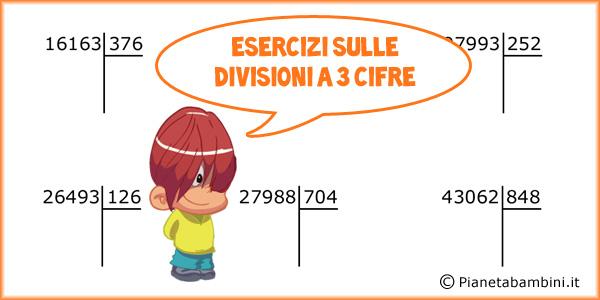 Divisioni in colonna a 3 cifre