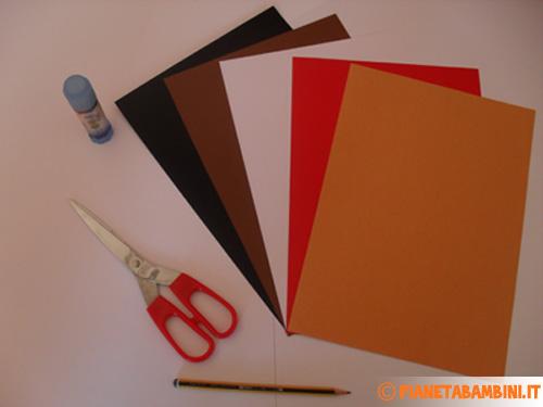Materiale necessario per la castagna di cartoncino