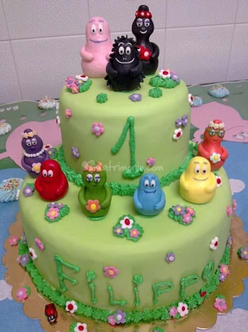 Foto della torta di Barbapapa n.01