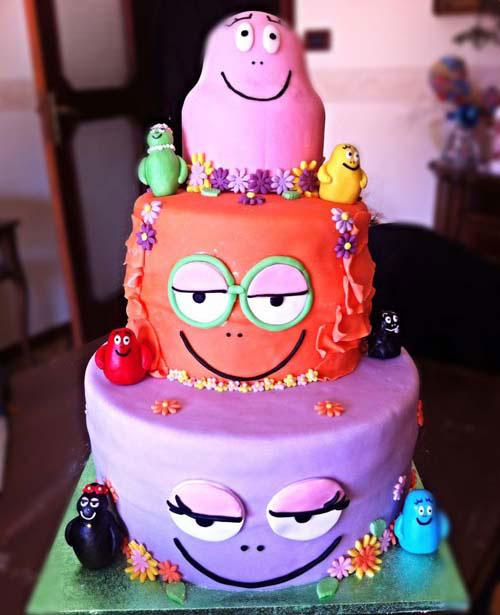 Foto della torta di Barbapapa n.03