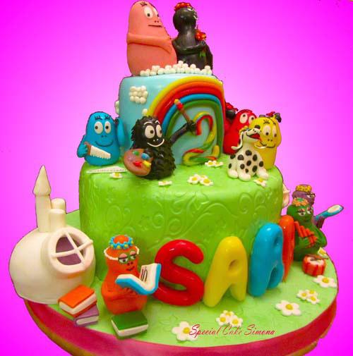 Foto della torta di Barbapapa n.11