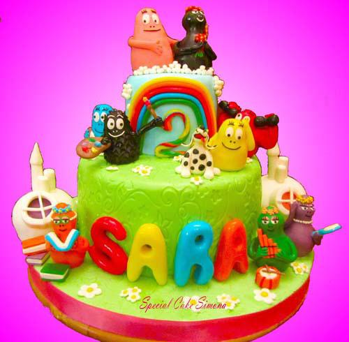 Foto della torta di Barbapapa n.14