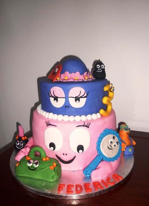 Foto della torta di Barbapapa n.35