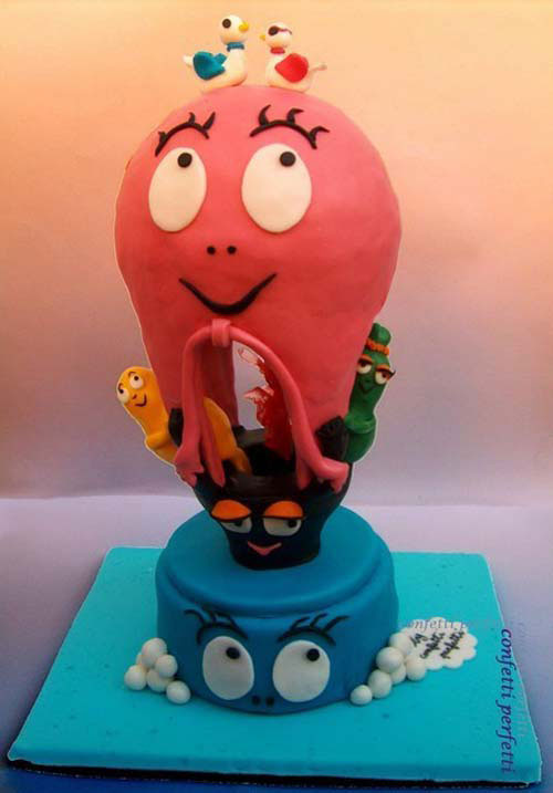 Foto della torta di Barbapapa n.42