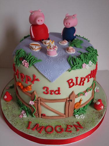 Foto della torta di Peppa Pig n.01