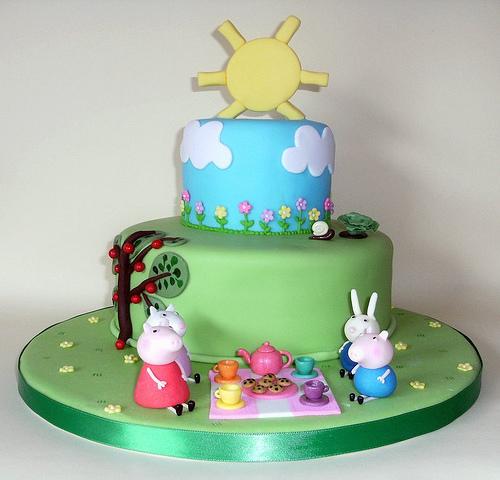 Foto della torta di Peppa Pig n.02