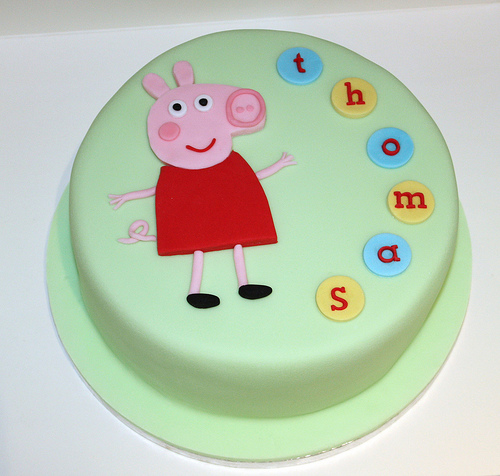 Foto della torta di Peppa Pig n.03