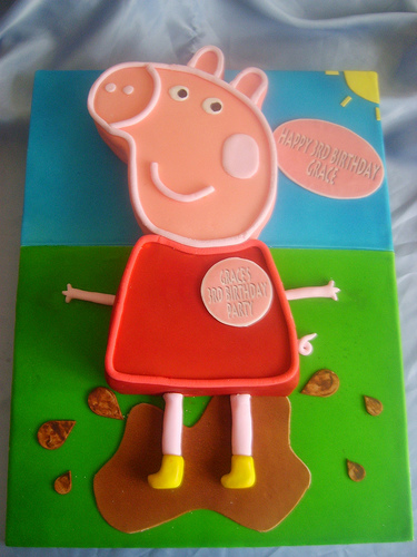 Foto della torta di Peppa Pig n.05