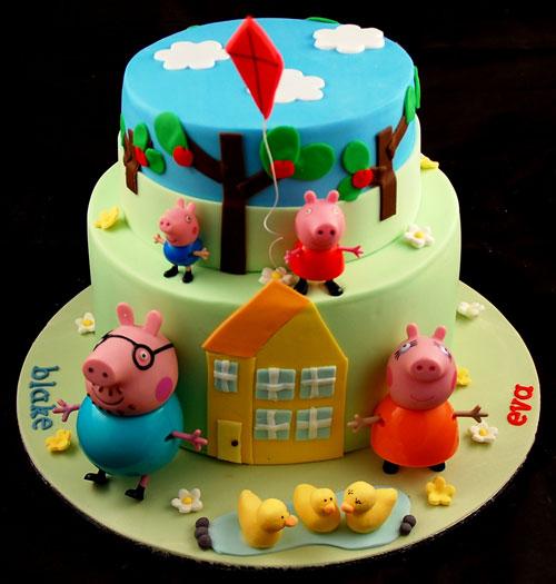 Foto della torta di Peppa Pig n.58