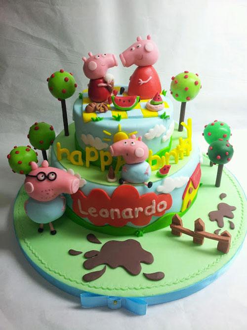 Foto della torta di Peppa Pig n.62