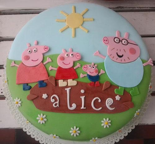 Foto della torta di Peppa Pig n.68