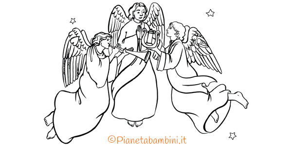 Disegni Da Colorare Natale Angeli Natalizi.18 Disegni Di Angeli Da Colorare Pianetabambini It