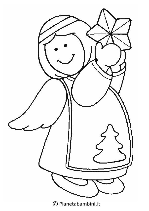 disegni di angeli da colorare per bambini