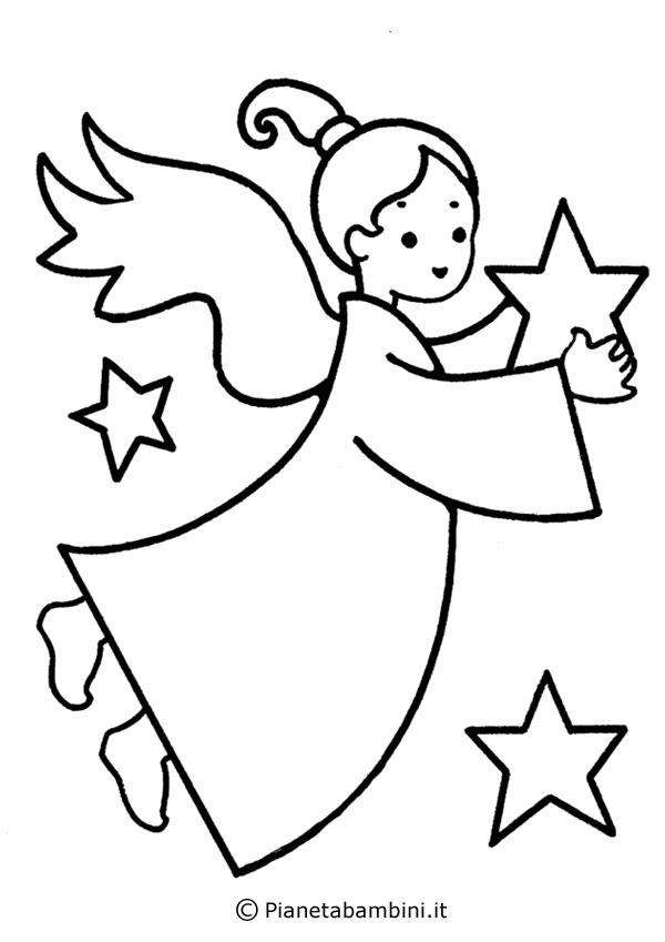 Disegni di angeli da colorare per bambini for Angeli da stampare e colorare