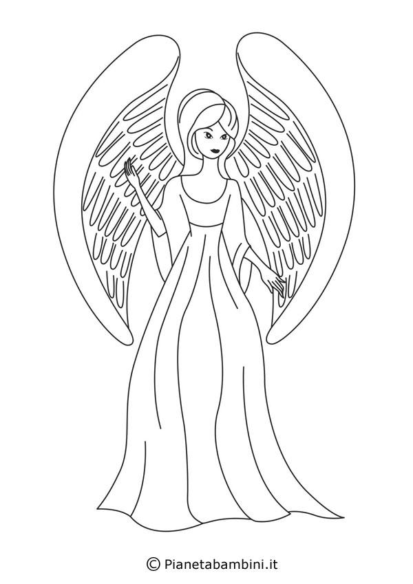 Disegni di angeli da colorare pianetabambini