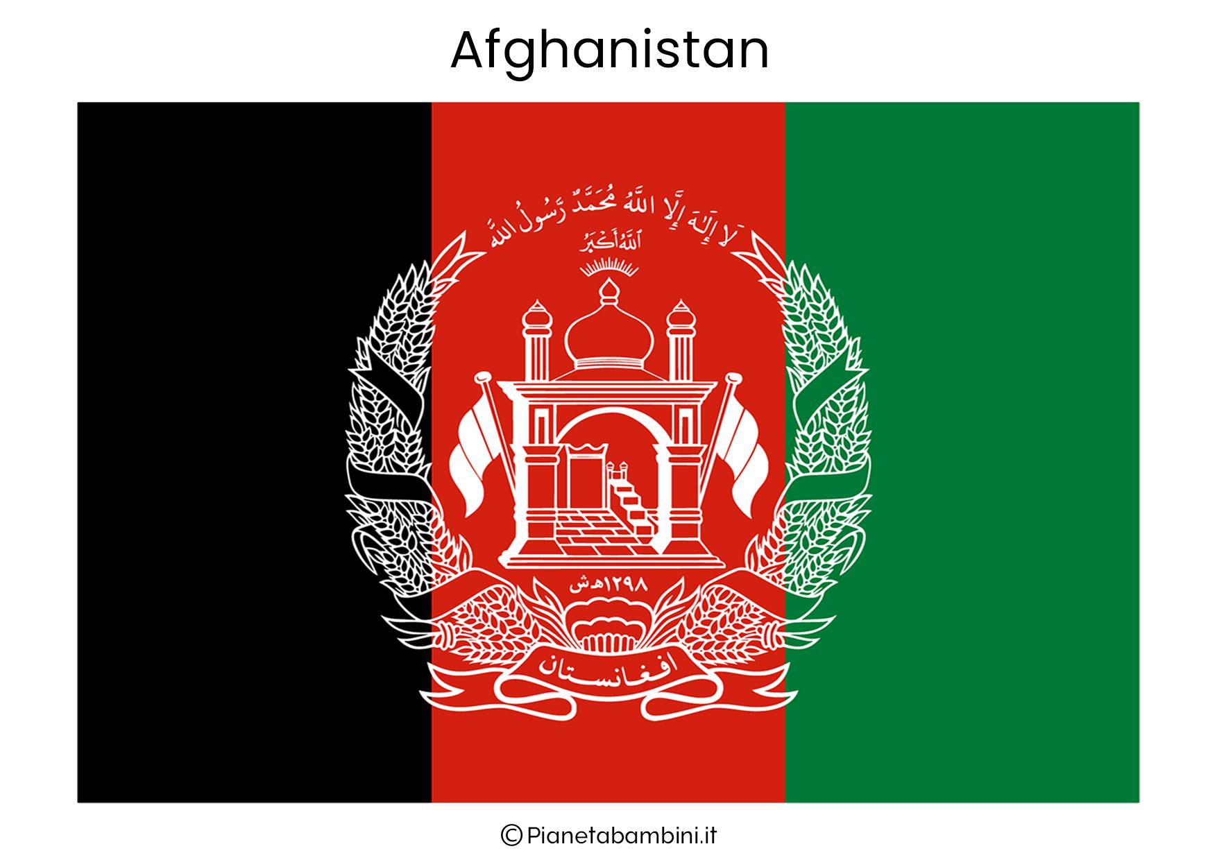 Bandiera dell'Afghanistan da stampare