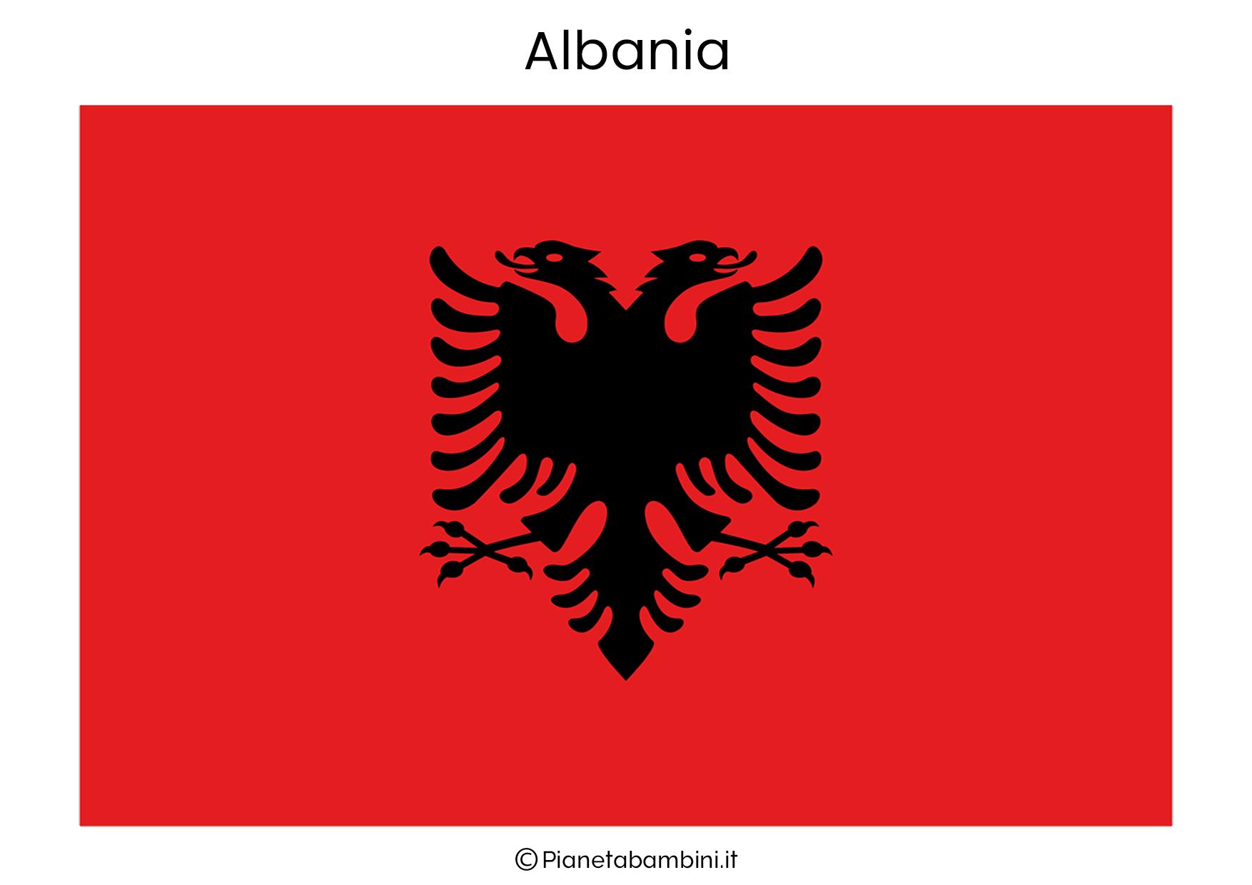 Bandiera dell'Albania da stampare