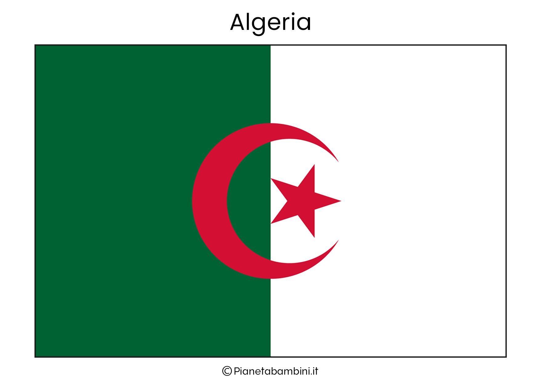 Bandiera dell'Algeria da stampare